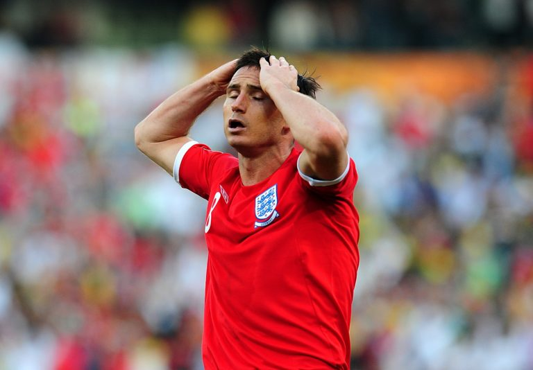 Frank Lampard was denied a clear goal in the 2010 World Cup against Germany