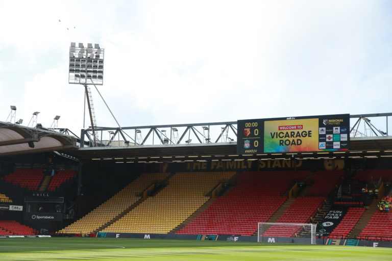 Like all other stadiums, Vicarage Road will be empty when Watford return to action this weekend.