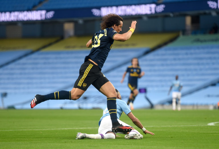 David Luiz had a night to forget as he was sent off in Arsenal's loss at Manchester City.