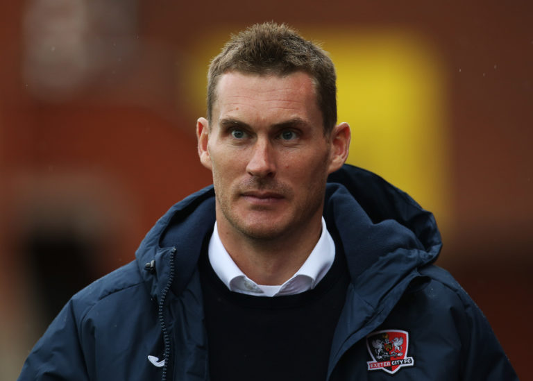 Exeter manager Matt Taylor felt a draw would have been fair