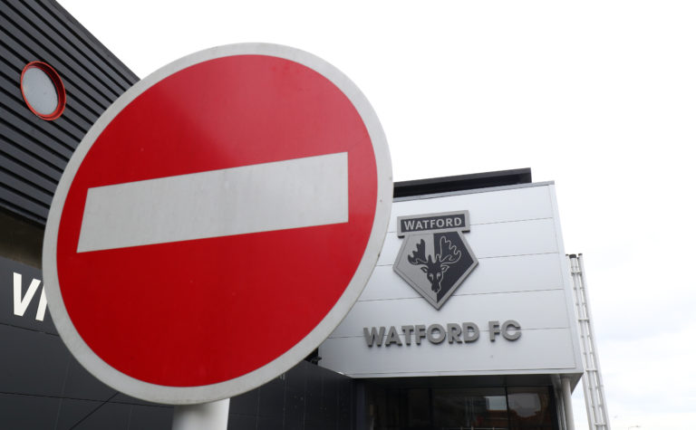 There will be no fans present when Watford host Leicester on Saturday.