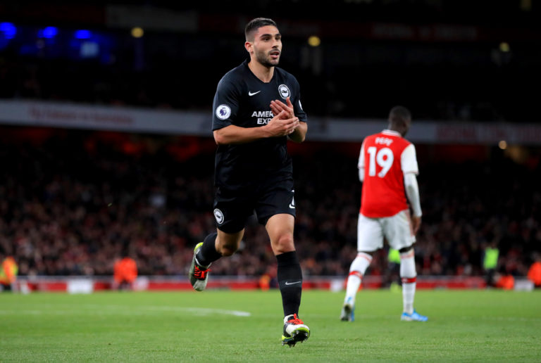 Neal Maupay scored Brighton's winner at Arsenal in December