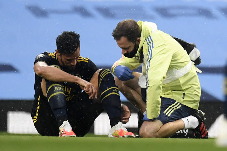 Mari suffered an ankle injury early on in Wednesday's defeat at Man City.