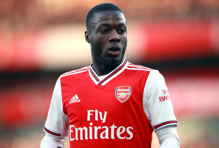 Nicolas Pepe has struggled at time since his move from Ligue 1 last summer.