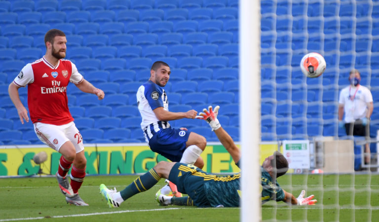 Neal Maupay hit the late winner as Brighton got back to winning ways.