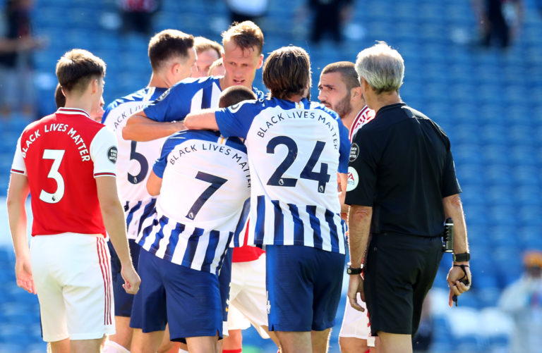 Arsenal and Brighton were both warned by the Football Association following the scenes at the end of their Premier League game.
