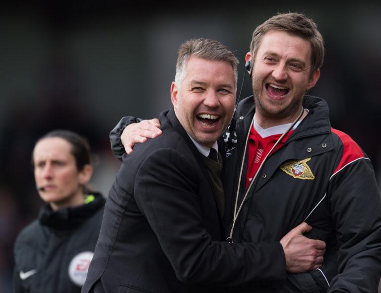 Strachan, left, has worked with Darren Ferguson