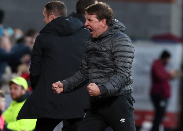 Stendel led Hearts to league wins over Rangers and Hibs