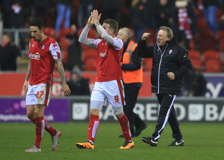 Warnock, right, departed Rotherham at the end of the 2015/16 season