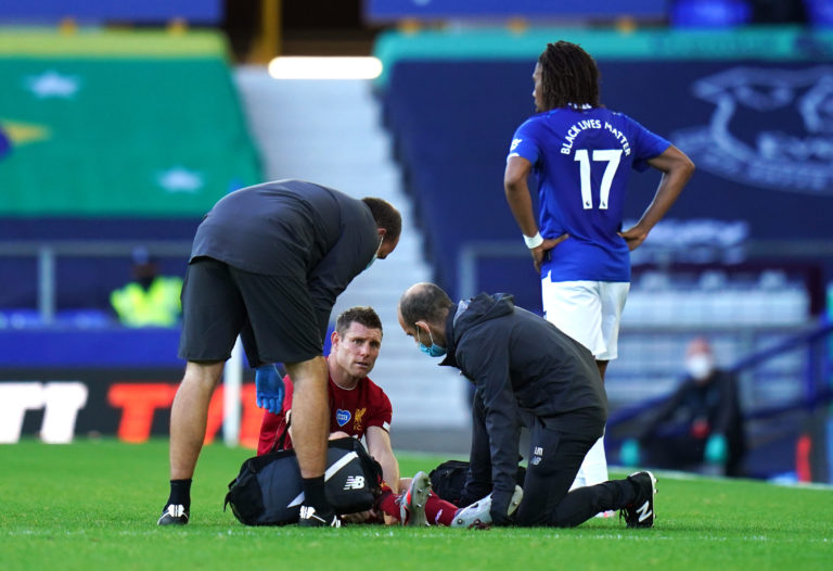 James Milner will miss the clash with Crystal Palace through injury