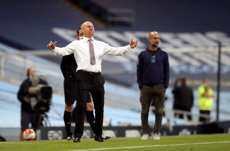 Burnley manager Sean Dyche had limited options at the Etihad Stadium
