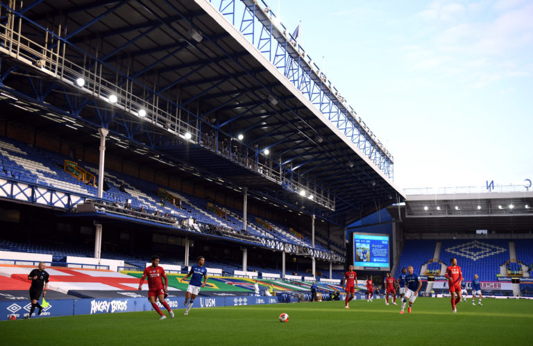 The Merseyside derby was played behind closed doors on Sunday