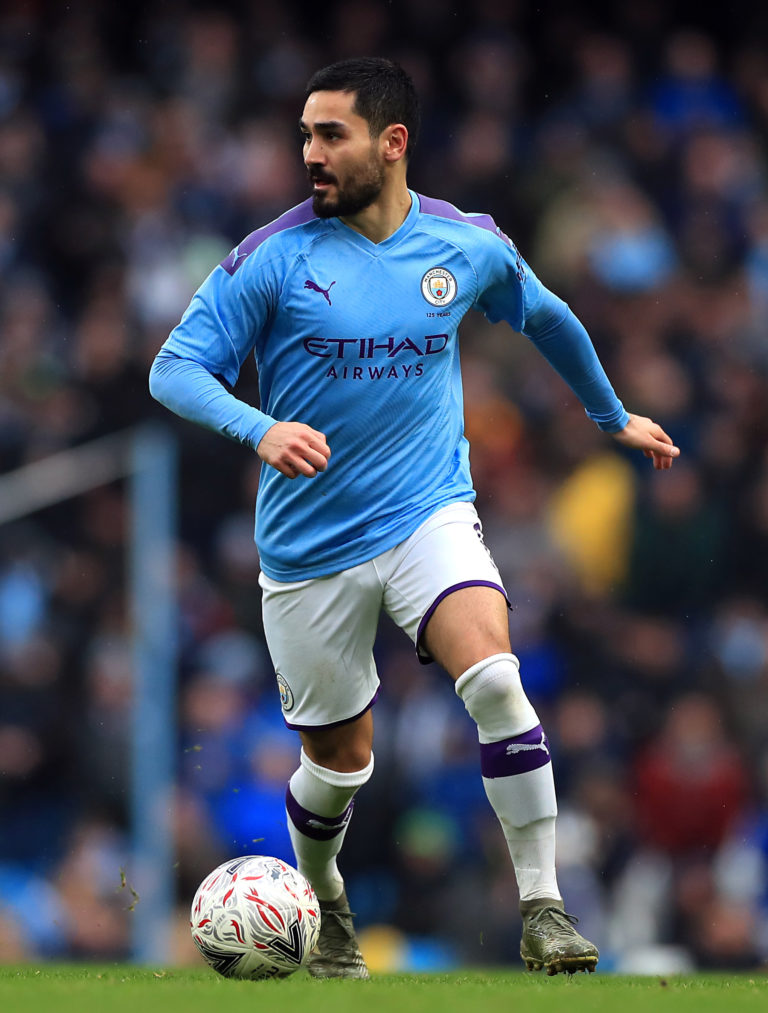 Guardiola counts midfielder Ilkay Gundogan among his striking options