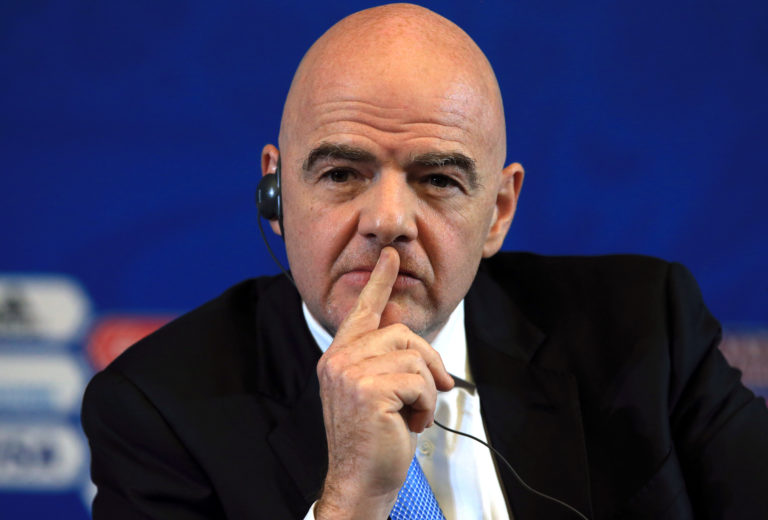 FIFA, led by president Gianni Infantino, is working on a Covid-19 relief fund