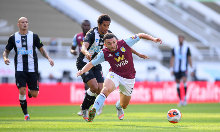 Aston Villa's John McGinn is back from an ankle break