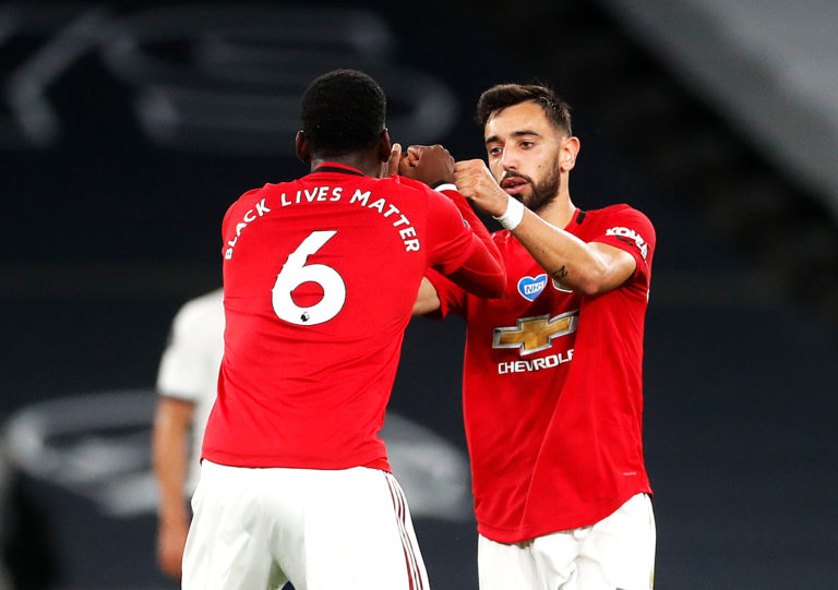 Bruno Fernandes and Paul Pogba started together for the first time on Wednesday, having briefly played together on Friday