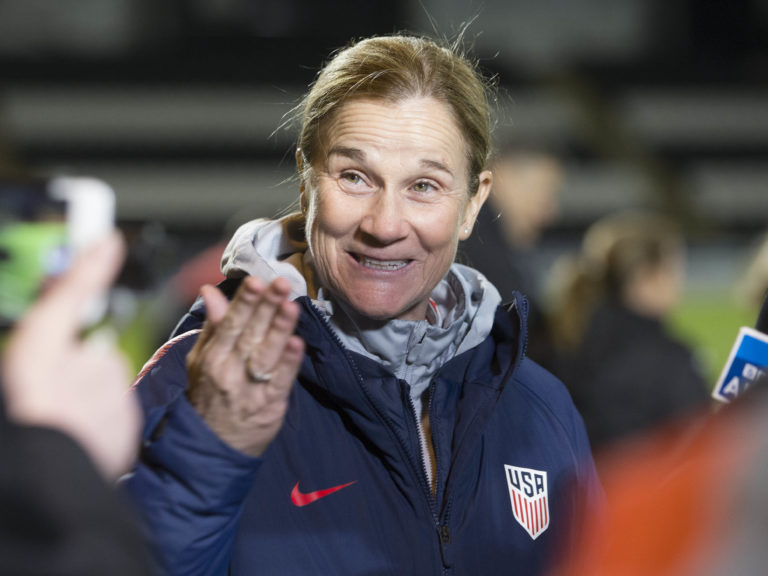 Former USA manager Jill Ellis has been linked with the England job (Jeff Holmes/PA).