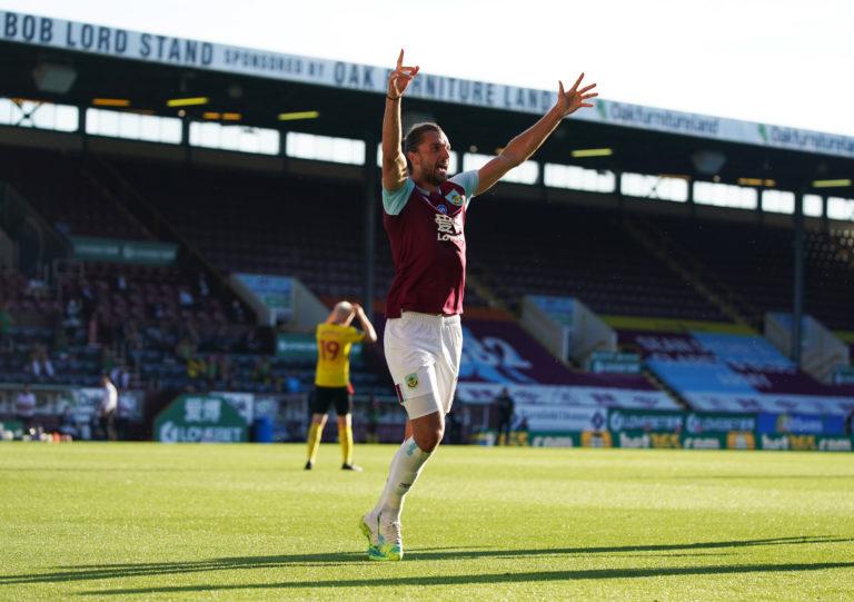 Jay Rodriguez celebrates his goal