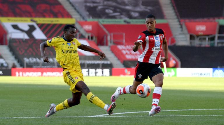 Eddie Nketiah was on target for Arsenal