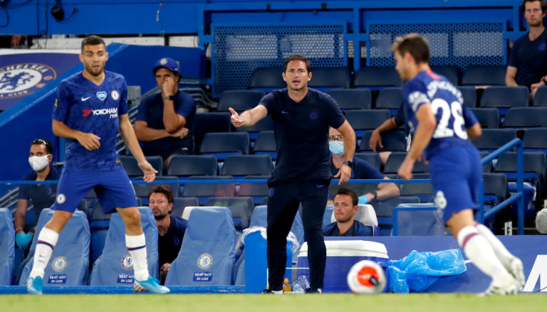 Frank Lampard watched his side earn a huge three points