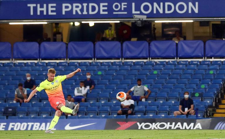 Kevin De Bruyne scored a fantastic free-kick for Manchester City