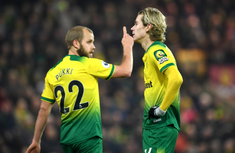 Teemu Pukki (left) and Todd Cantwell will be hoping for recalls this weekend.