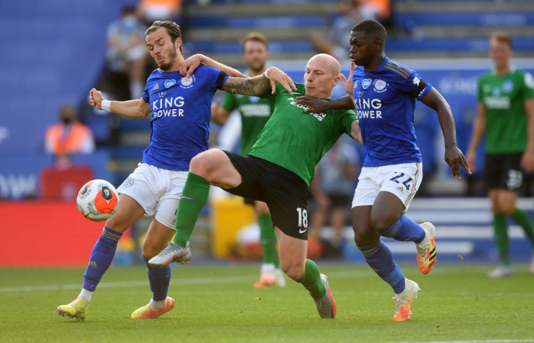 The Foxes played out a goalless draw with Brighton