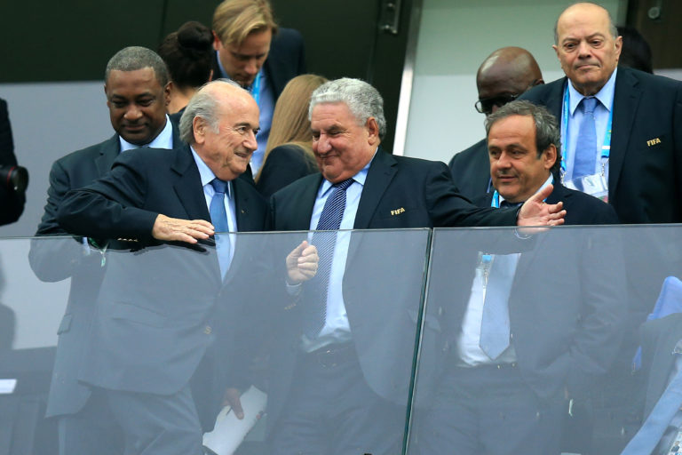 Sepp Blatter, left, and Michel Platini, right, had been opponents of goal-line technology prior to the 2010 finals
