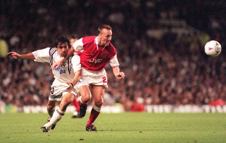 Lee Dixon helped Arsenal to four league titles