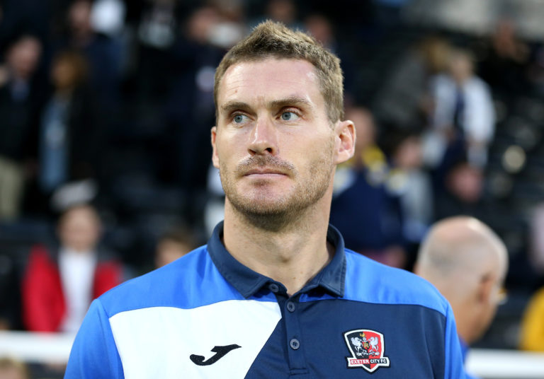 Exeter boss Matt Taylor played for the club for four years earlier in his career.