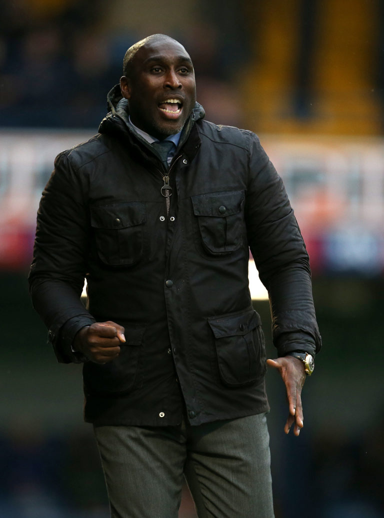 Southend boss Sol Campbell is one of a very small number of black managers in the English game