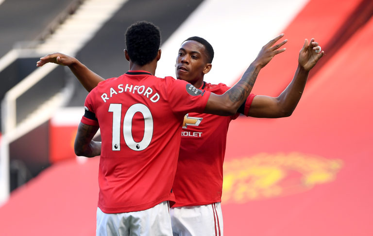 Marcus Rashford and Anthony Martial have improved this season