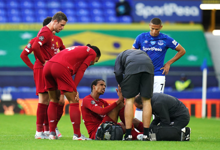 Matip was forced off in the second half at Goodison Park