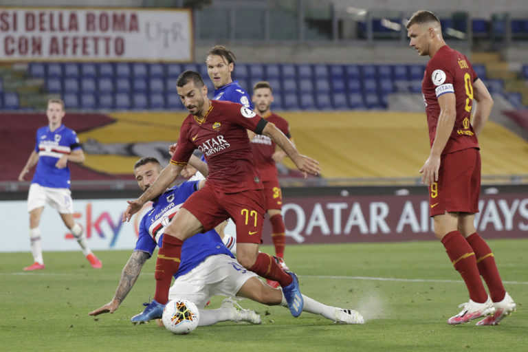 Mkhitaryan has started both games for Roma since the resumption of Serie A