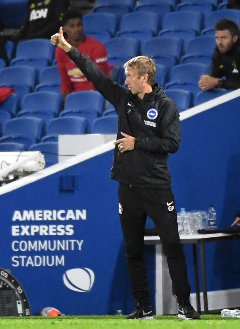 Brighton manager Graham Potter was keen to focus on the positives