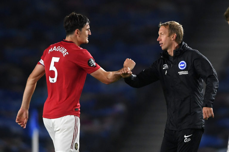 Brighton manager Graham Potter admitted United deserved all three points