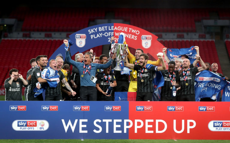 Northampton beat Exeter in the play-off final