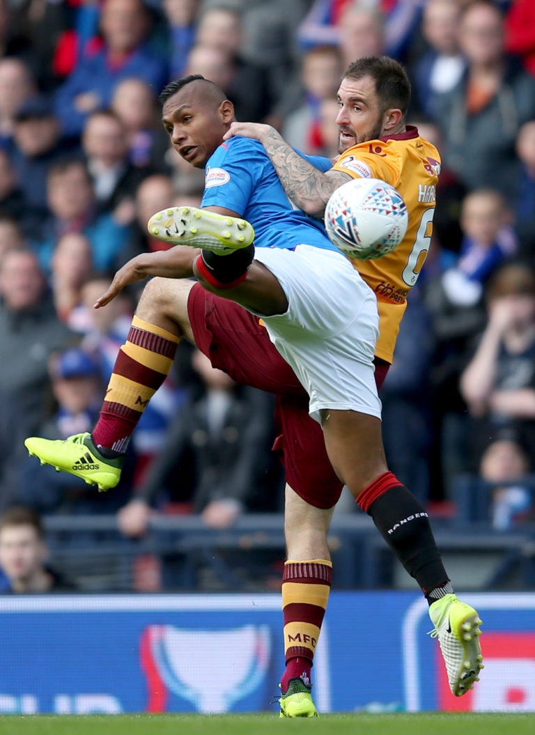 Hartley helped Motherwell to a cup semi-final win over Rangers