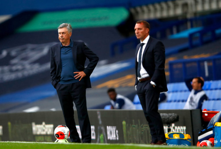 Carlo Ancelotti (left) has his sights set on a Europa League spot