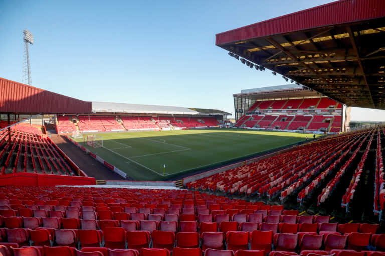 Pittodrie's capacity is close to 21,000
