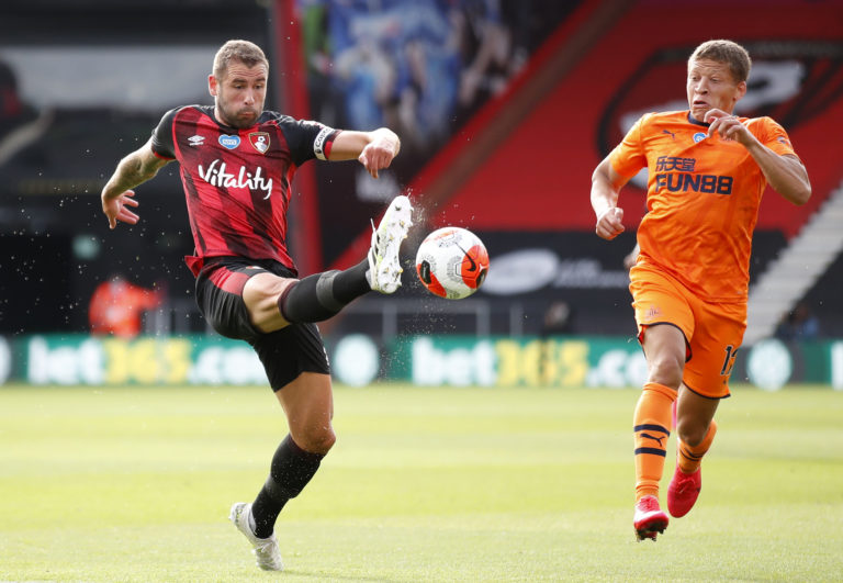 Bournemouth defender Steve Cook, left, offered a frank assessment of Bournemouth's performance against Newcastle