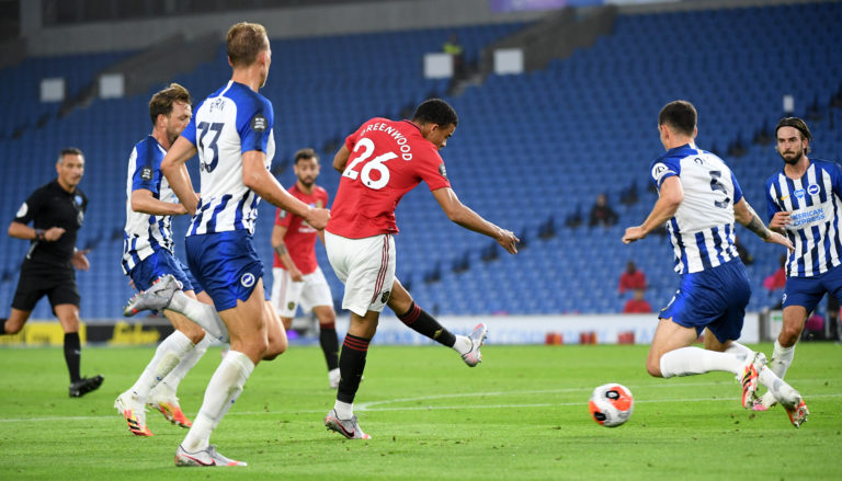 Mason Greenwood scored one and provided another in Tuesday's 3-0 triumph at the Amex