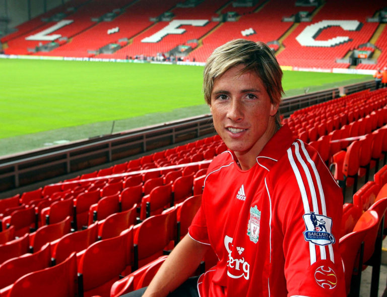 Torres after signing for Liverpool in 2007