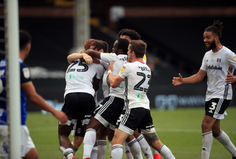 Fulham's Joshua Onomah is mobbed after his late winner