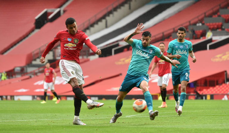 Mason Greenwood continued to catch the eye