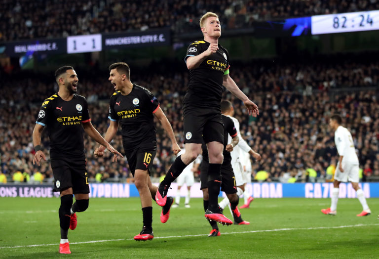 City beat Real Madrid 2-1 at the Bernabeu in February