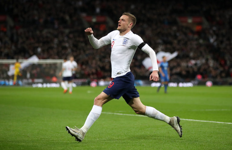Jamie Vardy scored seven times for England after making his international debut in 2015
