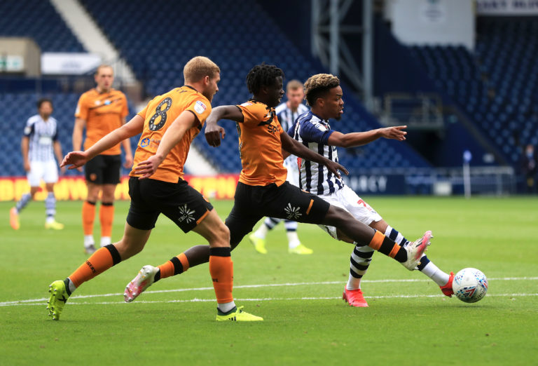 Grady Diangana (right) put the game beyond Hull