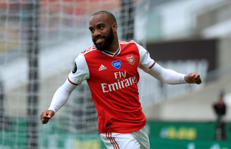 Alexandre Lacazette scored in the win at Wolves