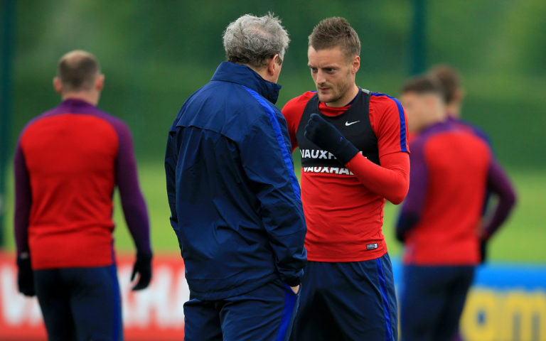Hodgson worked with Vardy in the England set-up